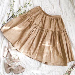 Tan Tropic Flared Skirt